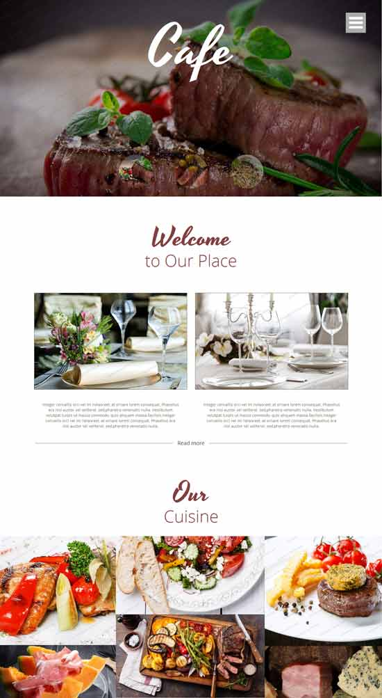 Cafe HTML5 template