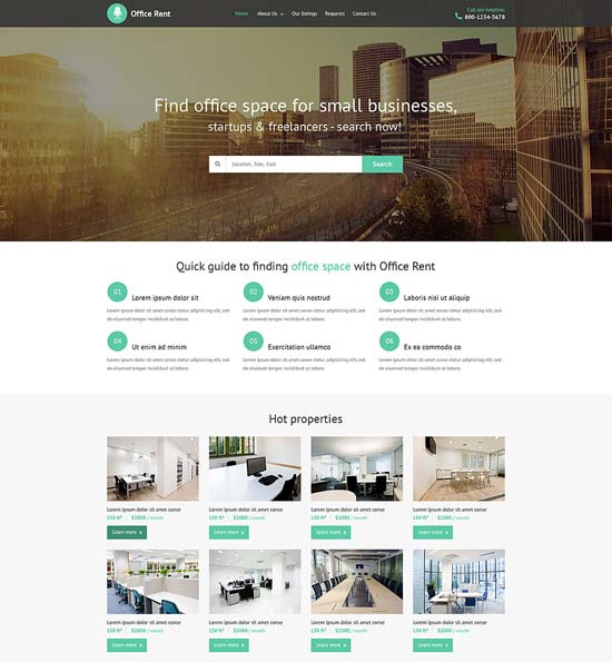 Real Estate Agency HTML5 Website Template