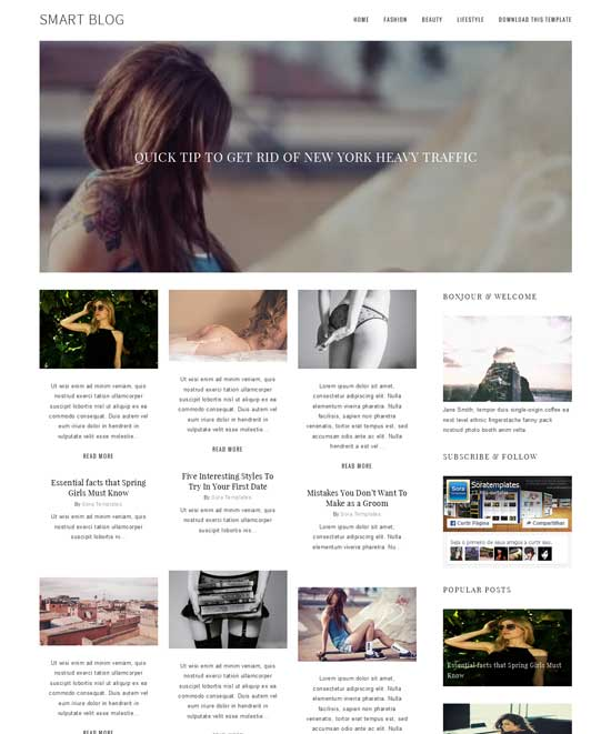 Smart Blog - responsive blogger template