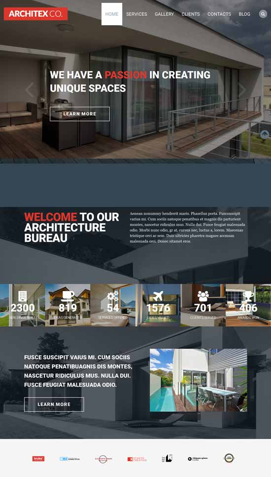 architex-construction WordPress theme