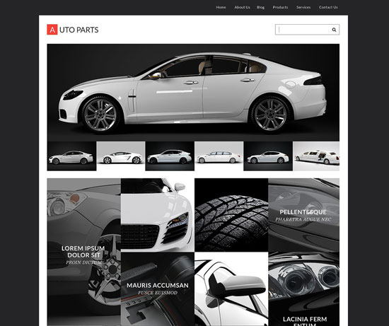 Auto Parts Tema WordPress Responsif