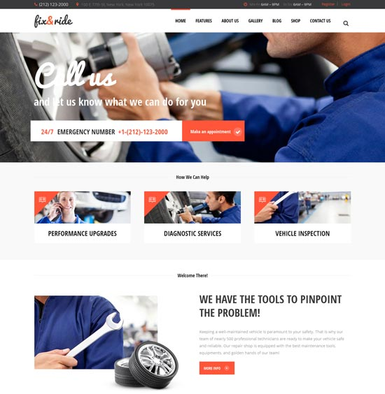 Automechanic & Perbaikan Mobil Tema