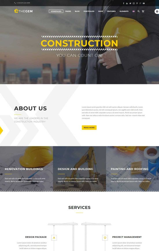 avxbuilder construction wordpress theme