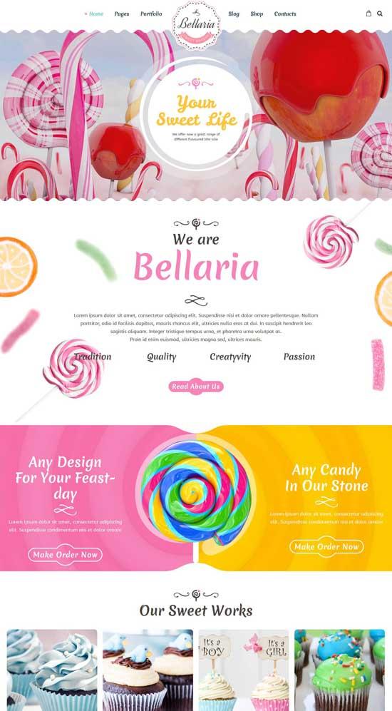 bellaria delicious cakes wordpress theme