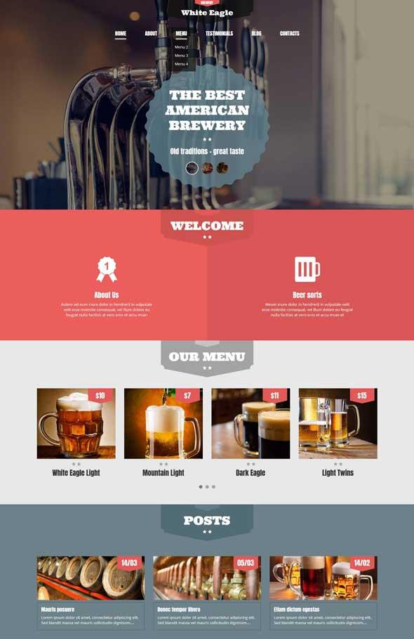 best american brewery wordpress theme
