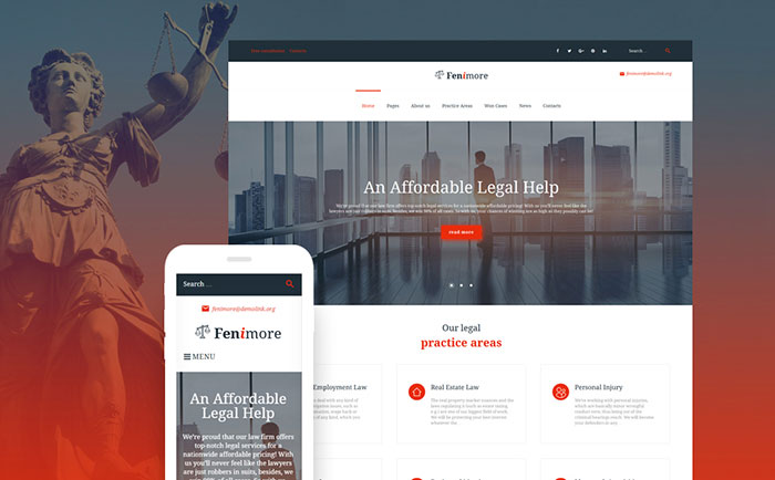 law firm WP theme