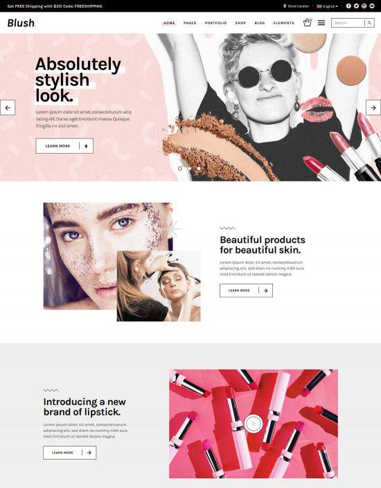blush beauty salon theme