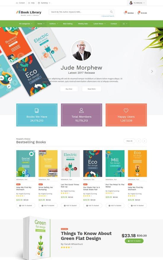 40 Best Book Website Templates 2021 Freshdesignweb