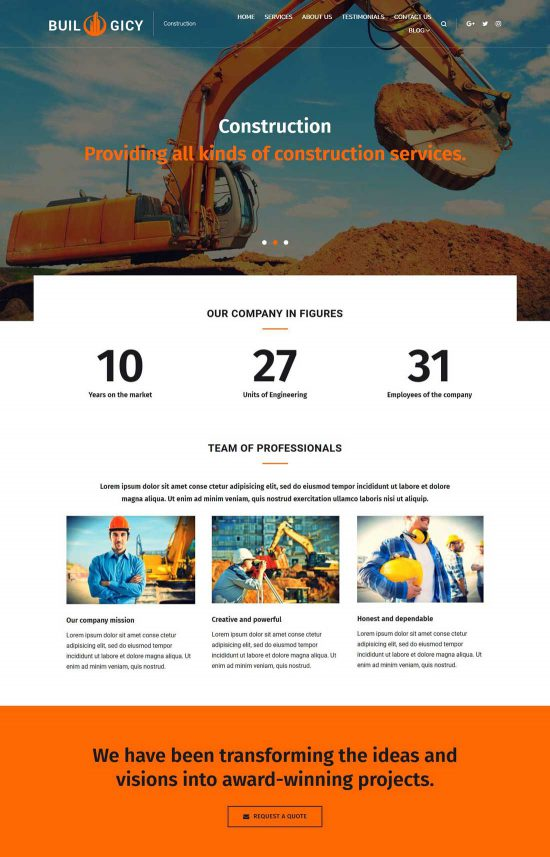 builogicy construction wordpress theme