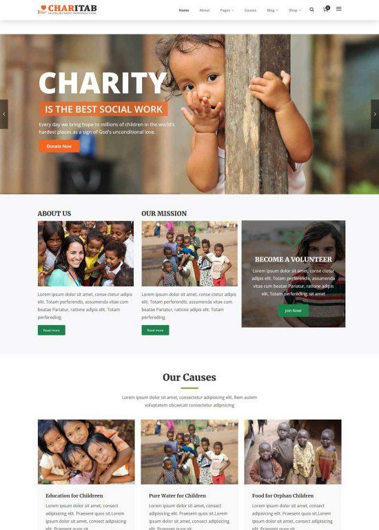 charitab charity wordpress theme