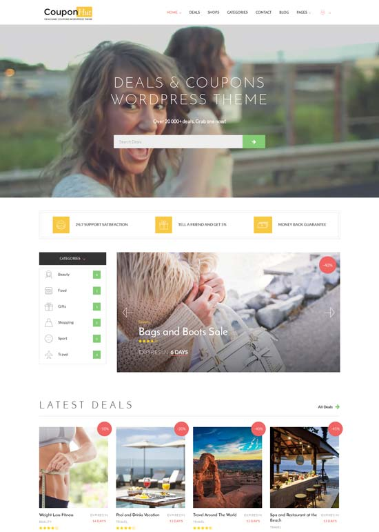 CouponHut - Directory WordPress Theme