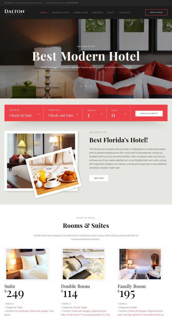 dalton hotel resort wordpress theme