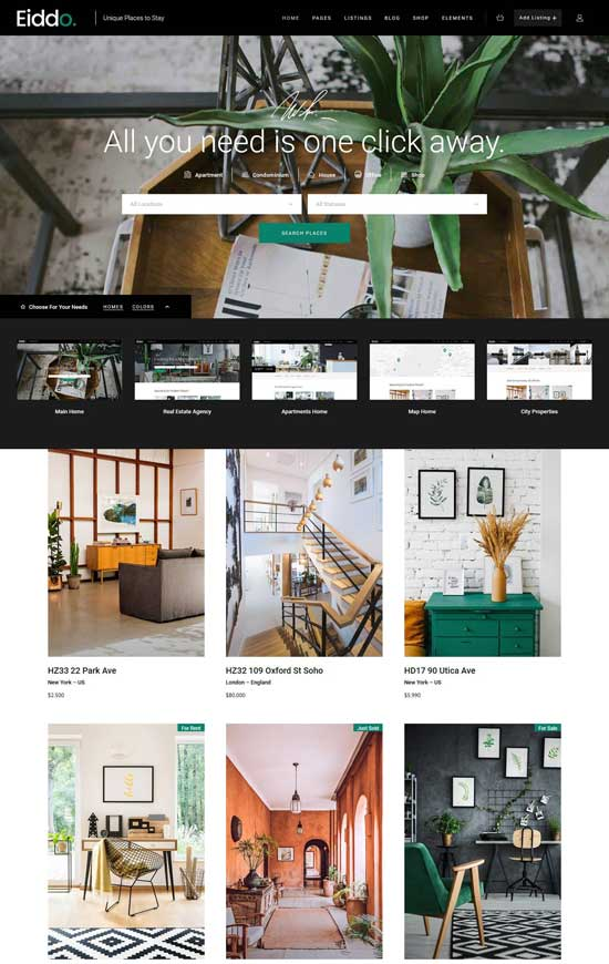 eiddo real estate agencies wordpress