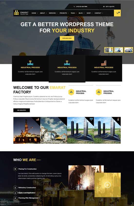 emarat-industry wordpress theme