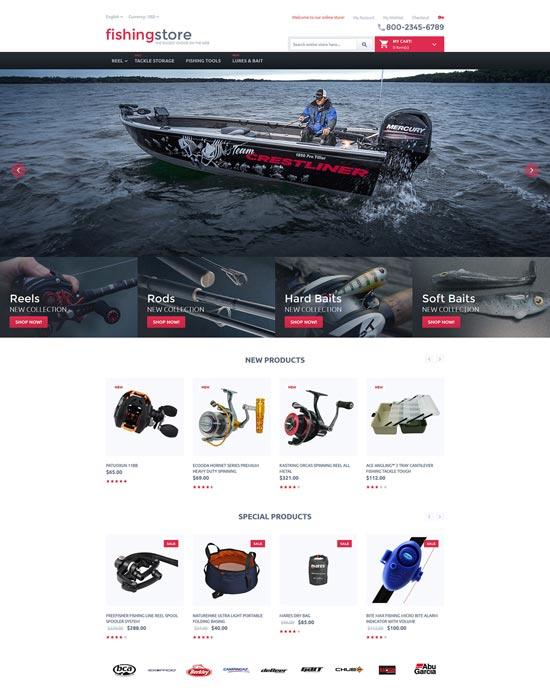 Fishing Store Magento Themes