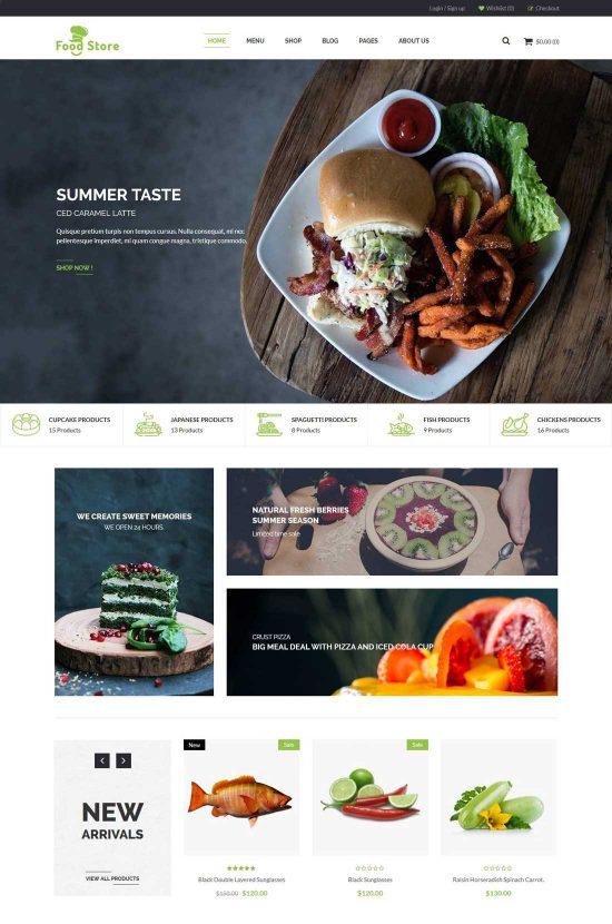 food store organic food wordpress theme