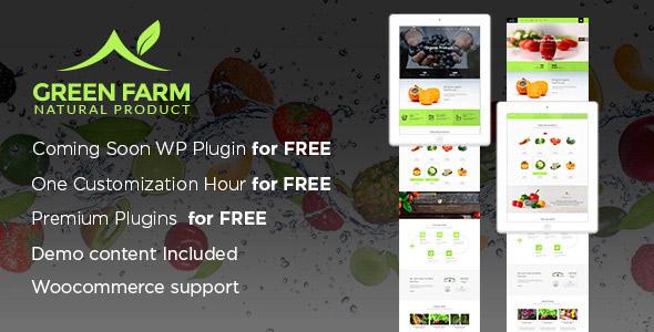 Green Organic Food WP Theme