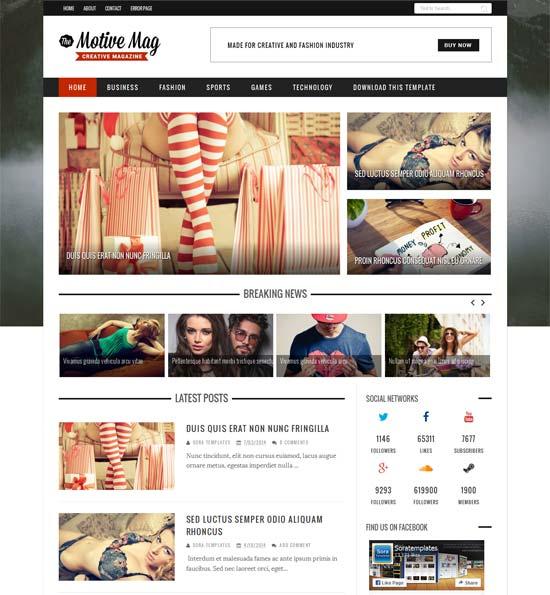 Motive responsive blogger theme