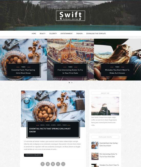 Swift responsive blogger theme