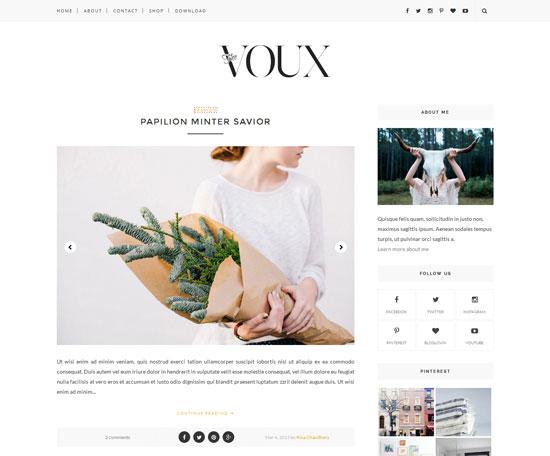 voux responsive blogger theme