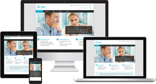 clean corporate responsive drupal theme