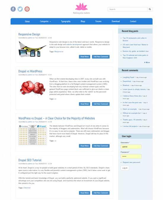 flowera free responsive drupal theme