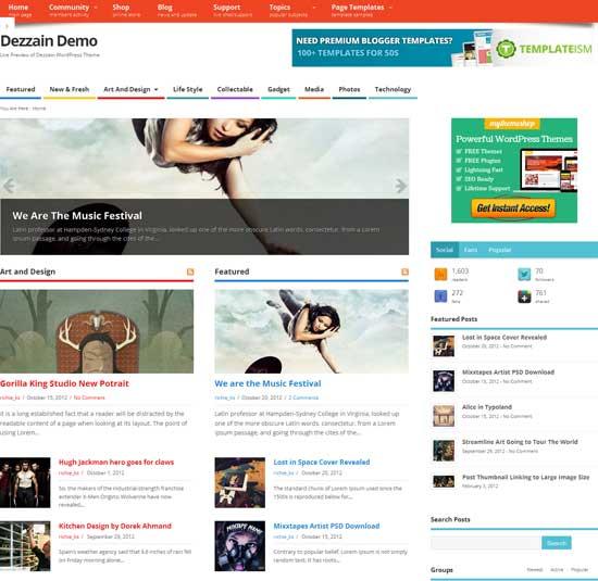 Mesocolumn free magazine WordPress theme