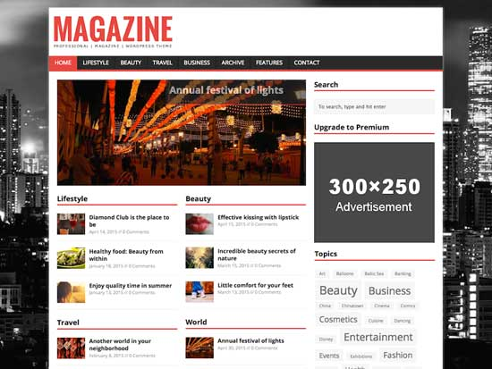 MH Magazine responsive free magazine WordPress theme