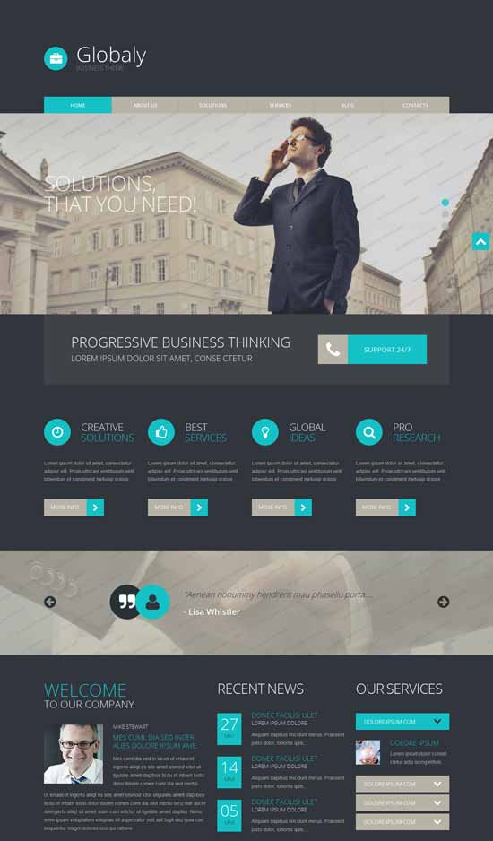 globaly wordpress business theme
