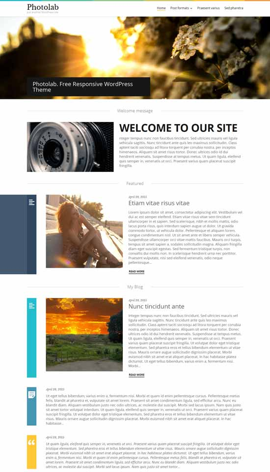 photolab wordpress photo blog theme
