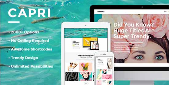 Capri - A Hot Multi-Purpose Fullscreen Theme