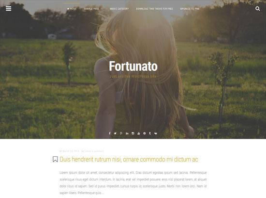 Fortunato modern & minimal free fullscreen WordPress theme