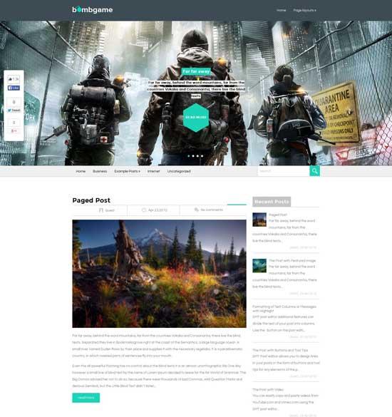 BombGame – Free Gaming WordPress theme
