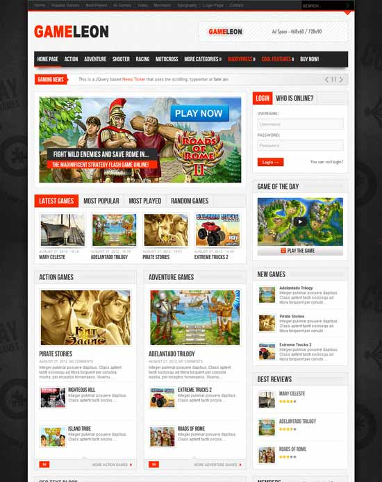 Gameleon - WordPress Magazine Game Theme