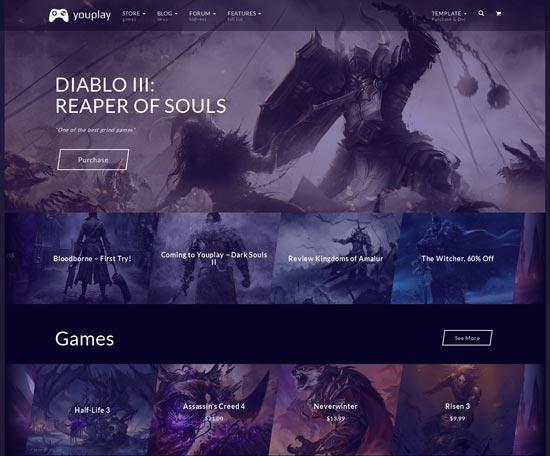Youplay - Gaming WordPress Template