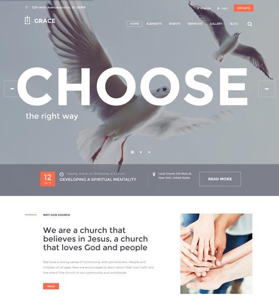 Church WordPress Theme - Grace