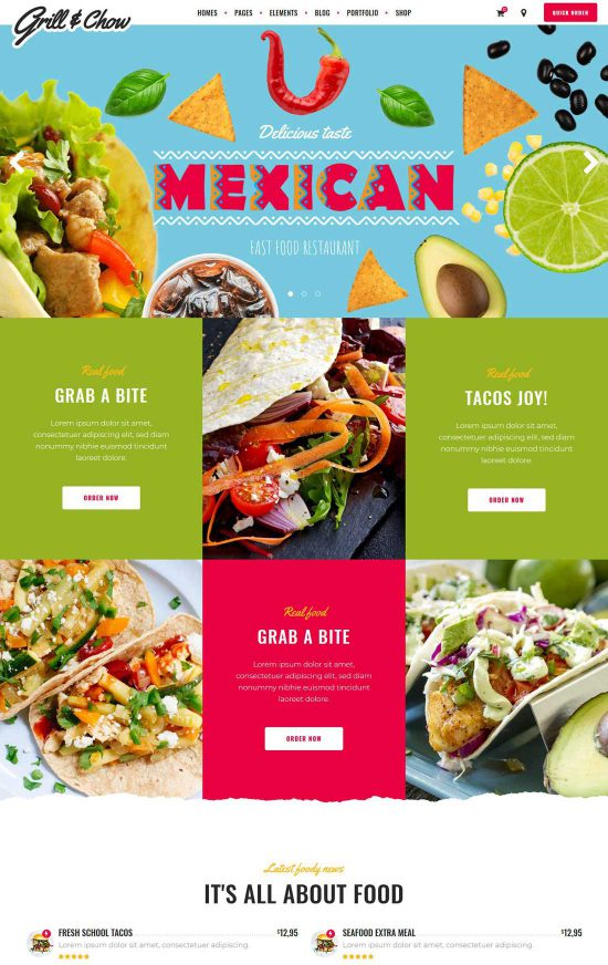grillchow diner wordpress theme