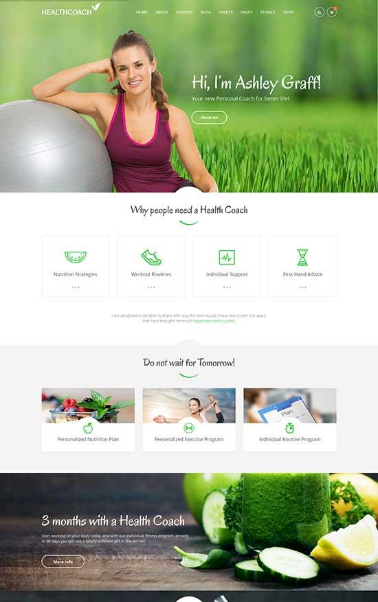 Health Coach Health WordPress Theme