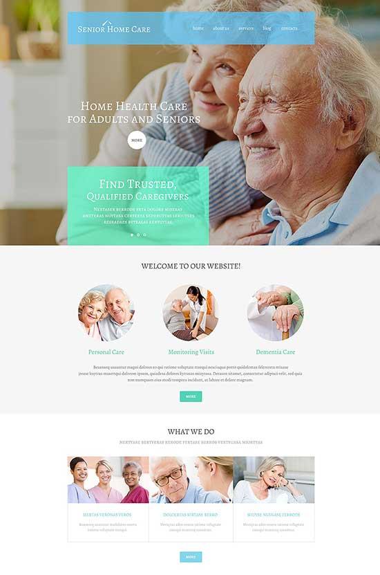 Senior Home Care WordPress Health Theme