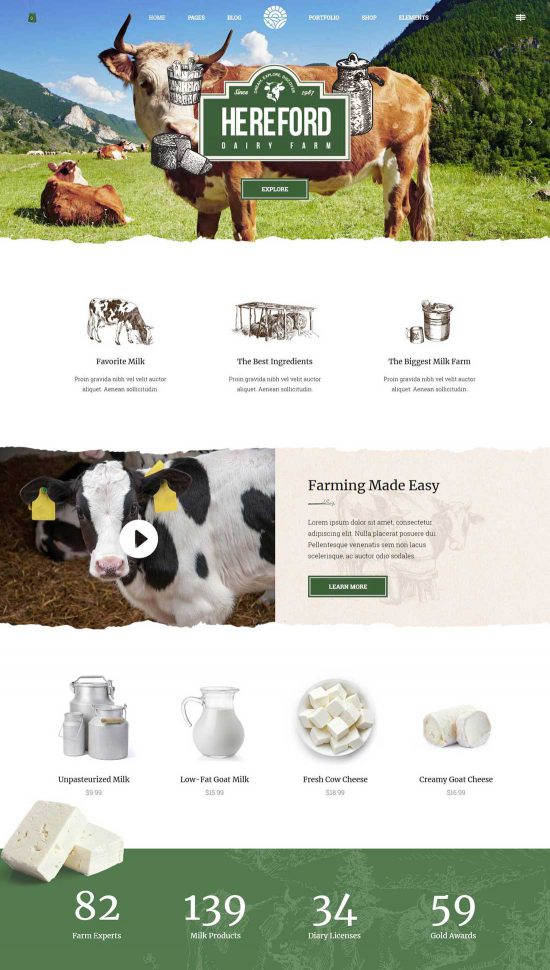 hereford agriculture organic food theme