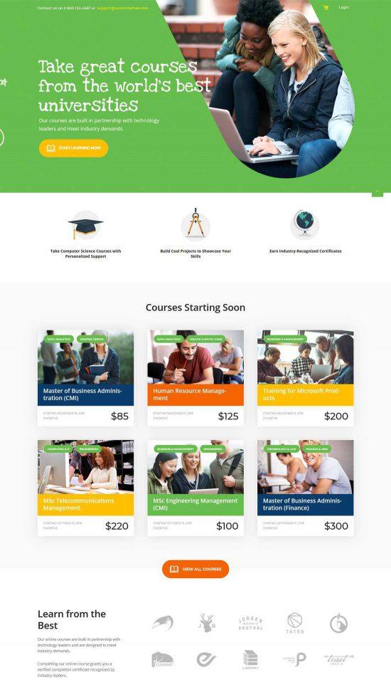hogwords education center wordpress theme