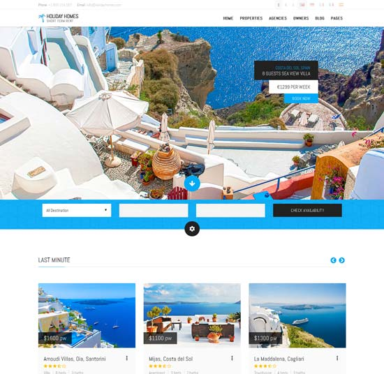 Holiday Travel HTML Template