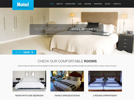 skt lite free hotel WordPress theme