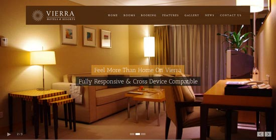Vierra - Responsive Hotel WordPress Theme