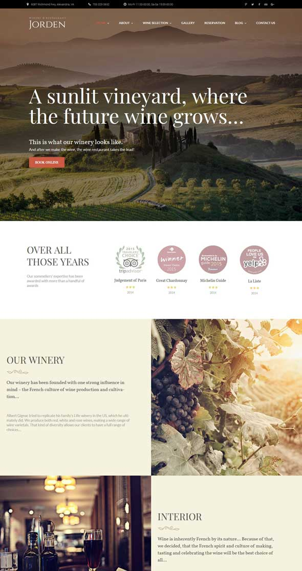 jorden wine winery wordpress theme