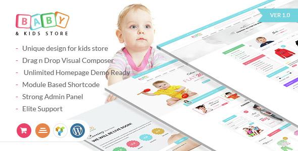 Baby & Kids Store eCommerce Woocommerce WordPress Theme