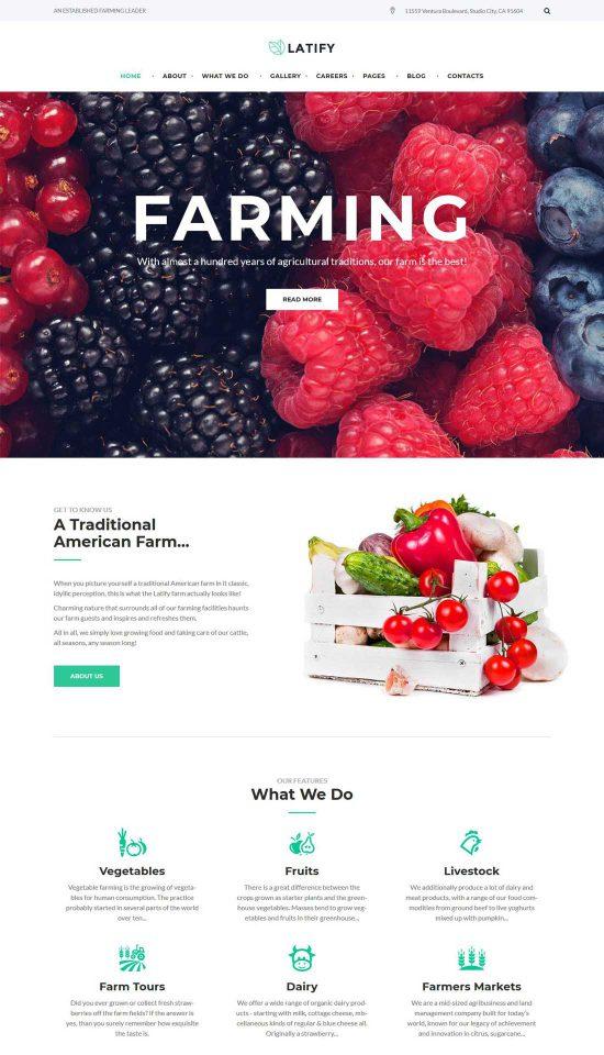 latify private farm responsive wordpress theme
