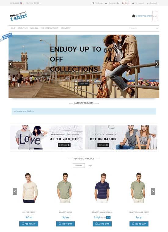 Leo T-shirt Free Prestashop Themes