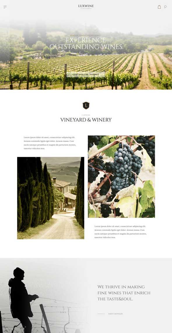 luxwine wine wordpress theme