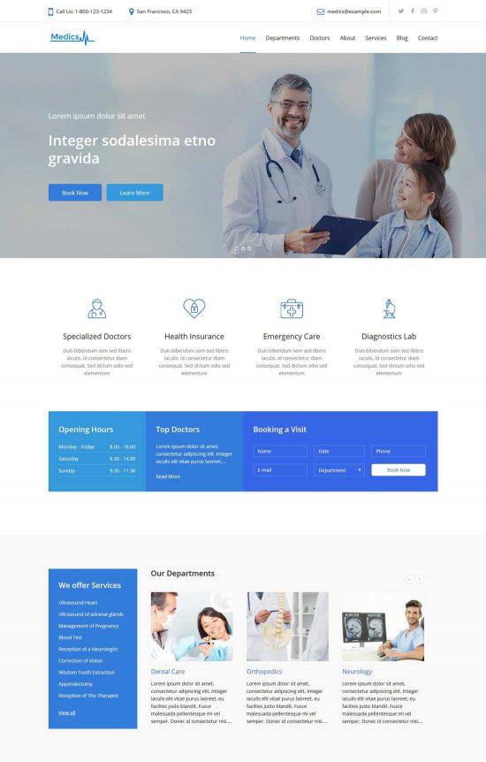 medics medical wordpress theme